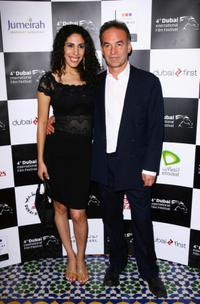 Yasmine Hanani and director Nick Broomfield at the premiere of
