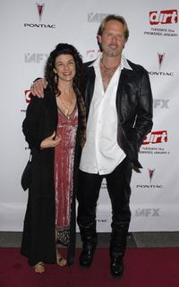 Francia Dimase and Jeffrey Nordling at the premiere screening of