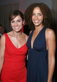 Amy Brenneman and Parisa Fitz-Henley at the after party of the premiere of