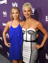 Laura Vandervoort and Morena Baccarin at the EW and SyFy party during the Comic-Con 2010 in California.
