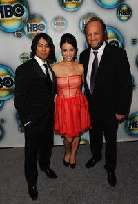 Vik Sahay, Mekenna Melvin and Scott Krinsky at the HBO's Post 2012 Golden Globe Awards Party.
