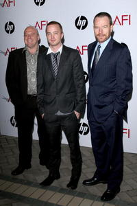 Dean Norris, Aaron Paul and Bryan Cranston at the AFI Awards 2008.