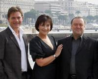 John Michie, Blythe Duff and Alex Norton at the photocall of