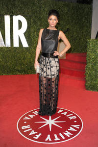 Jessica Szohr at the 2011 Vanity Fair Oscar party in California.