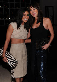 Jessica Szohr and founder/president of Tamara Mellon Jimmy Choo at the HELP HAITI Benefiting The Ben Stiller Foundation and The J/P Haitian Relief Organization in New York.