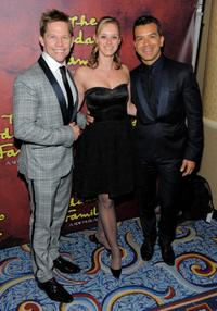 Jack Noseworthy, Dontee Kiehn and Sergio Trujillo at the after party of the Broadway opening of