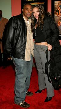 Dennis White and Marianela at the after party of the premiere of