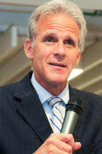 Michael Oren speaks during his book release party for