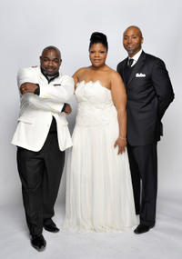 Rodney Perry, Mo'Nique and Sidney Hicks at the portrait session of the 41st NAACP Image awards in California.
