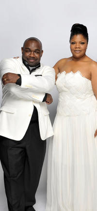 Rodney Perry and Mo'Nique at the portrait session of the 41st NAACP Image awards in California.
