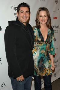 Danny Nucci and Paula Marshall at the Season 5 premiere of