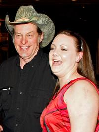 Ted Nugent and Beth McPherson at the National Bowhunters Hall of Fame during the National Field Archery Association's World Archery Festival.