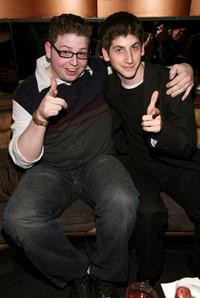 Brandon Hardesty and Steven J. Kaplan at the after party of