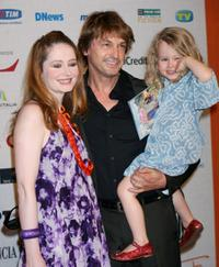 Miranda Otto, Peter O'Brien and their daughter Darcey at the Roma Fiction Festival.