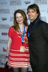 Miranda Otto and Peter O'Brien at the world premiere of