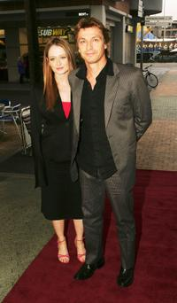 Miranda Otto and Husban Peter O'Brien at the media launch of Channel 7's upcoming mini-series