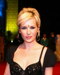 Kierston Wareing at the premiere of