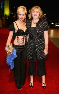 Kierston Wareing and Guest at the premiere of