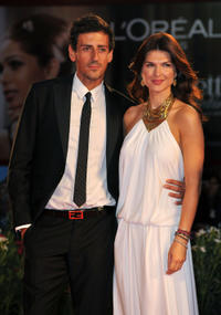 Gaetano Bruno and Monica Barladeanu at the premiere of
