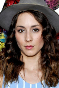 Troian Bellisario at the REVOLVE Desert House during Coachella in Palm Springs, California.