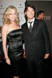 Jerry O'Connell and Rebecca Romijn at the Maxim Hot 100 Party.