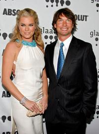 Jerry O'Connell and Rebecca Romijn at the 18th Annual GLAAD Media Awards.