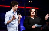 Rosie O'Donnell and Zach Braff at the New York Spring Awakening and Degrassi panel discussion.