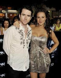 Christian Campbell and America Olivo at the premiere of