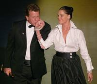Ryan O'Neal and Ali MacGraw at the 74th Academy Awards.