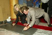 Ryan O'Neal and Tatum O'Neal at the Los Angeles place their handprints in cement at the 30th anniversary screening of