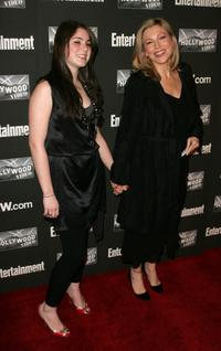 Tatum O'Neal and her daughter at the Entertainment Weekly Academy Awards viewing party.
