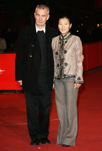 Khulan Chuluun and Sergei Bodrov at the premiere of