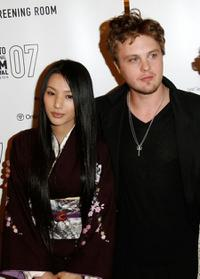 Sei Ashina and Michael Pitt at the premiere screening of