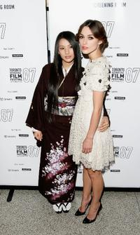 Sei Ashina and Keira Knightley at the premiere screening of