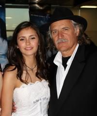 Nina Dobrev and Rade Sherbedgia at the premiere of