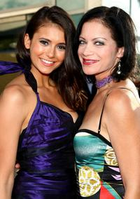 Nina Dobrev and Yassmin Alers at the premiere of
