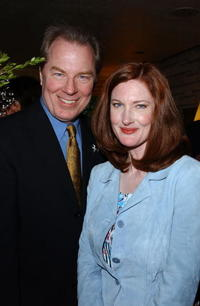 Annette O'Toole and Michael McKean at the champagne reception honoring the Academy Award Music Nominees.