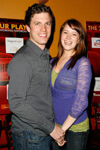 Zack Robidas and Marnie Schulenburg at the after party of