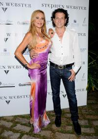 Ana Obregon and Stephen Webster at the Stephen Webster Jewelry first anniversary party.