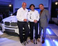 Hans-Reiner Schroeder, Alessandro Zanardi and Uwe Ochsenknecht at the BMW X6 car presentation.