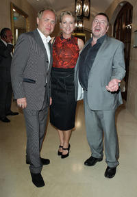 Uwe Ochsenknecht, Ulla Kock am Brink and Armin Rohde at the BMW Adlon Golf Cup 2010 party in Germany.