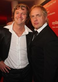 Fabrice Schmidt and Uwe Ochsenknecht at the Red Bear Night party.