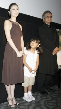 Saki Takaoka, Hana Sugiura and Ken Ogata at the screening of