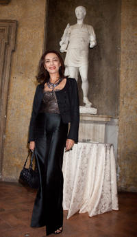 Maria Rosaria Omaggio at the 2009 Nastri D'Argento Nominations Dinner party in Rome.