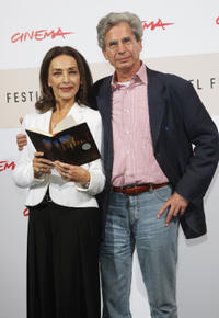 Maria Rosaria Omaggio and Author Francesco D'Adamo at the photocall of