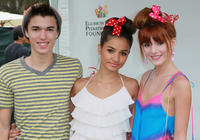 Remy Thorne, singer Pia Mia and Bella Thorne at the Elizabeth Glaser Pediatric AIDS Foundation's