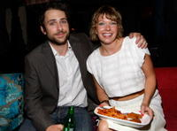 Charlie Day and Mary Elizabeth Ellis at the Season 4 DVD launch party of