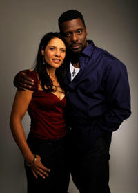 Monique Gabriela Curnen and Eamonn Walker at the portrait studio during the Tribeca Film Festival 2010 in New York.