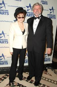 Yoko Ono and Robert L. Lynch at the 2008 National Arts Awards.