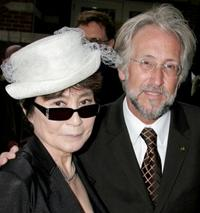 Yoko Ono and Neil Portnow at the Grammy Foundation's